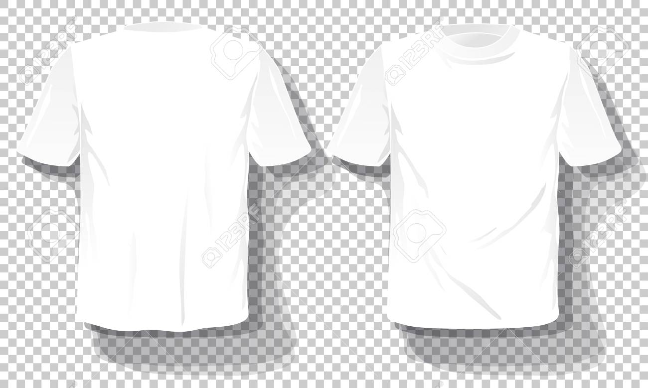 Black and white mens t-shirt template realistic vector image.