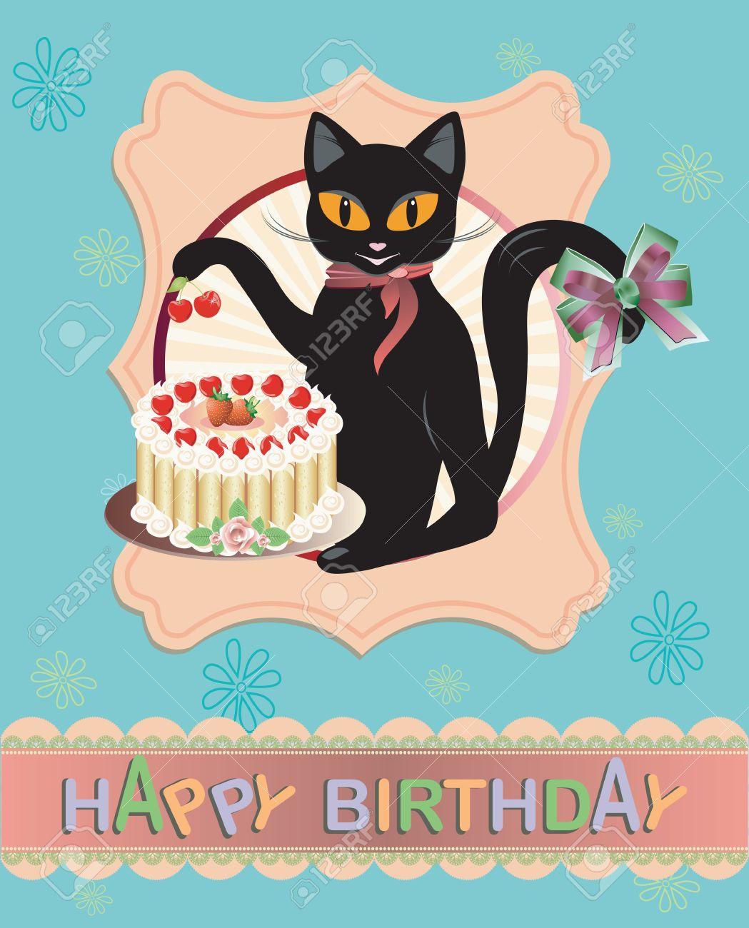 Funny vector cat birthday greeting card royalty free cliparts funny vector cat birthday greeting card stock vector 21732035 kristyandbryce Gallery