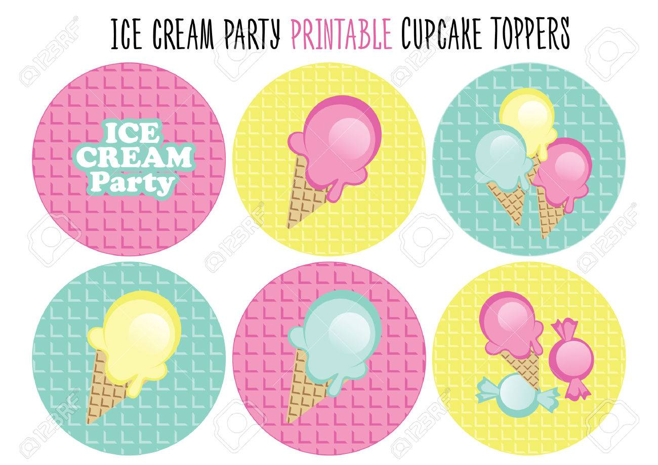 image about Printable Cupcakes Toppers called Cupcake toppers printable. Slash. Ice product bash