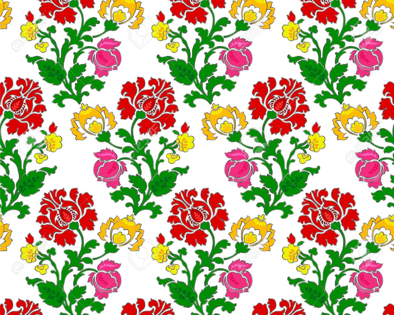 Abstract red yellow and pink flowers on white background royalty abstract red yellow and pink flowers on white background stock vector 72069361 mightylinksfo