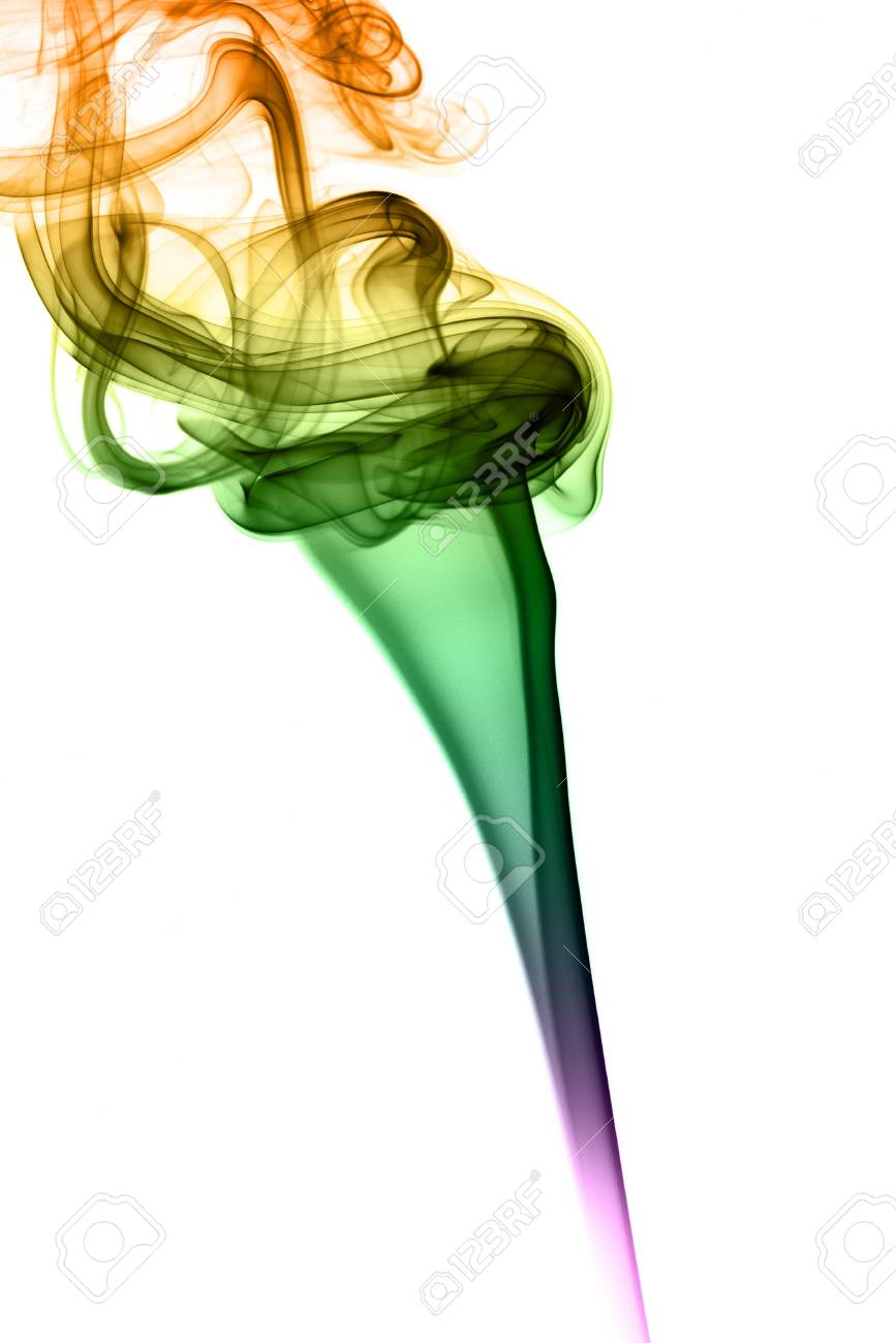 Colored smoke on withe background Stock Photo - 15627398