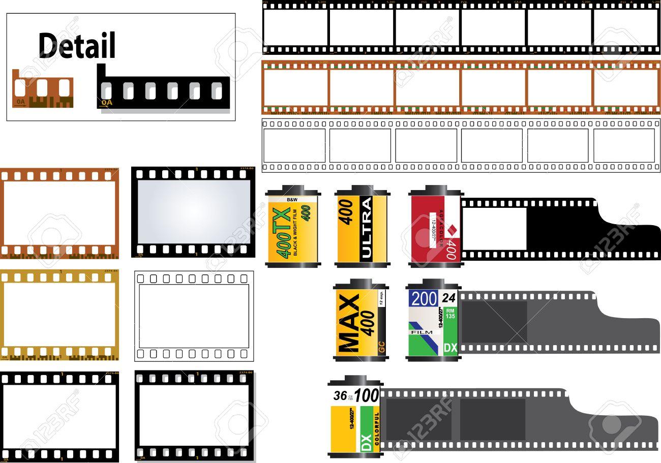 6 Marco De Tiras De Película De 35mm En Color Y B & W Tipos De ...
