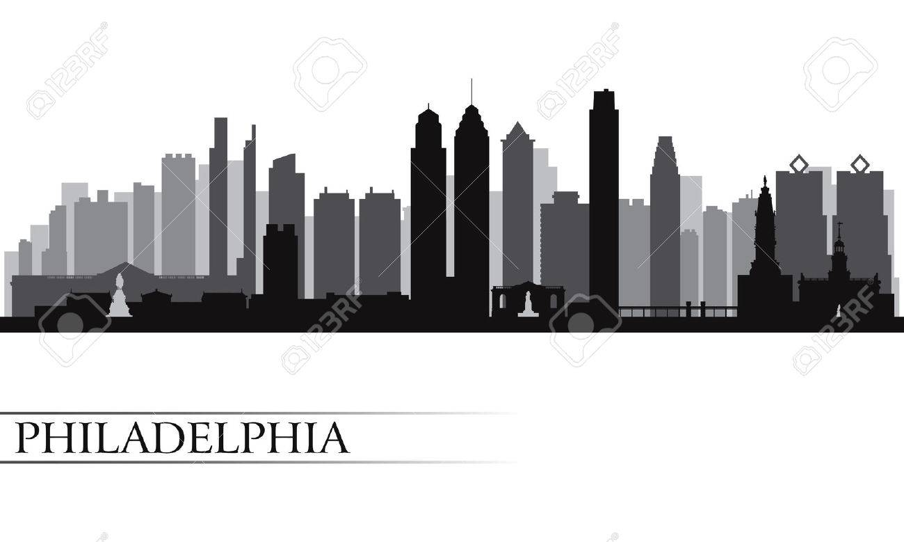 philadelphia city skyline detailed silhouette vector illustration royalty  free cliparts, vectors, and stock illustration. image 22721192.  123rf