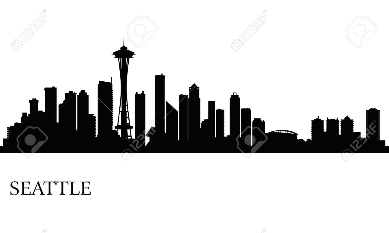seattle city skyline silhouette background vector illustration rh 123rf com  seattle skyline vector free