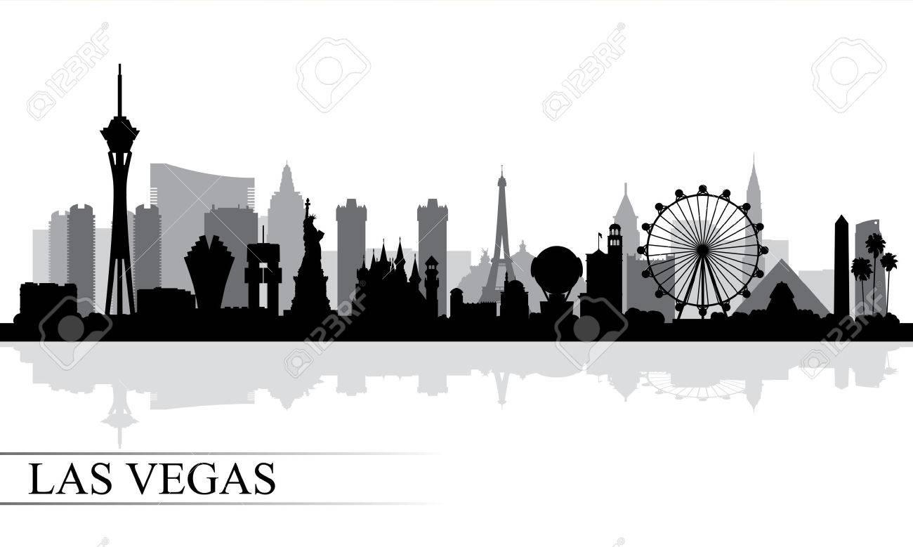 las vegas city skyline silhouette background vector illustration rh 123rf com las vegas clip art free las vegas clip art borders