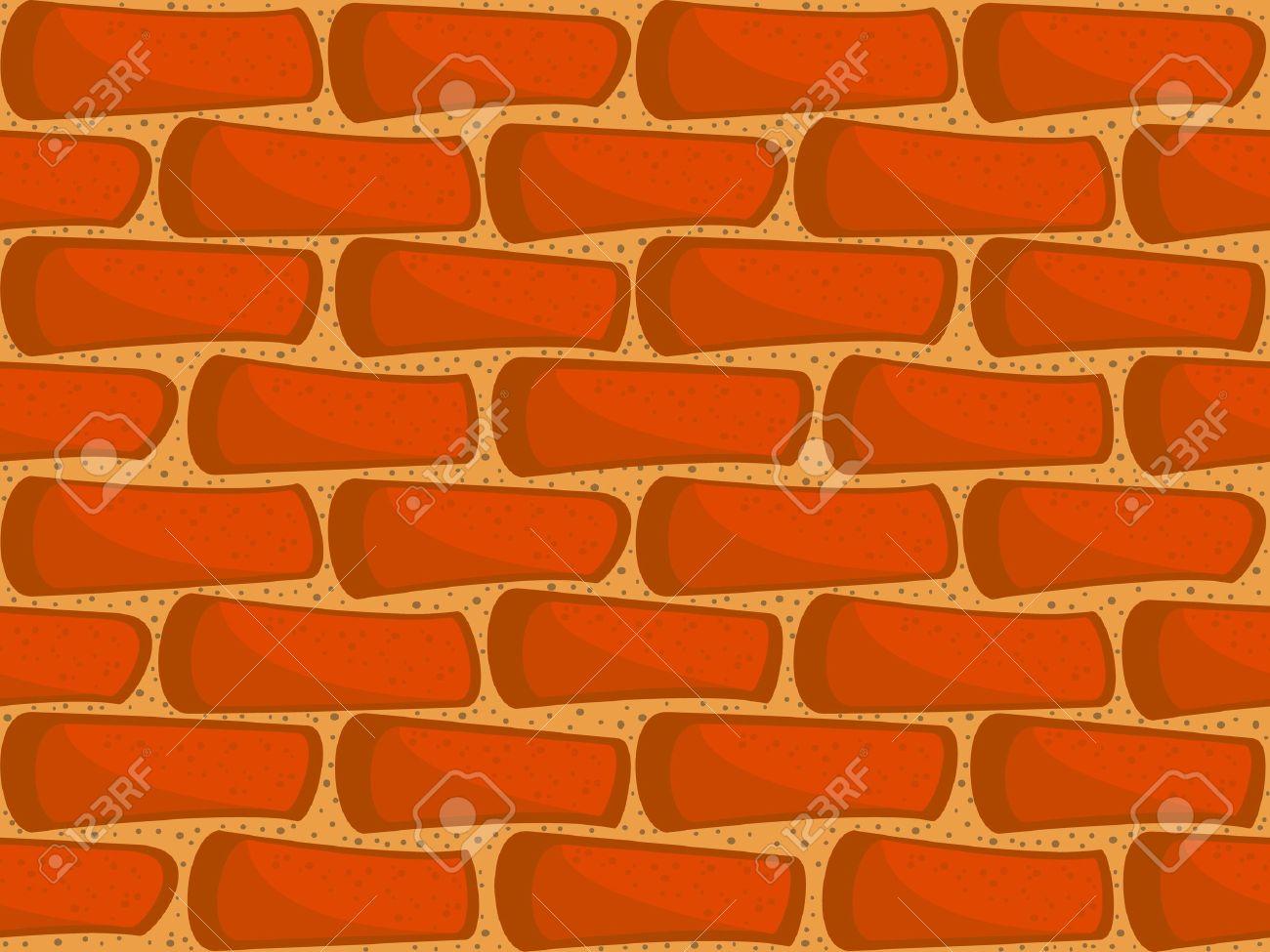 A Fragment Of A Brick Wall Seamless Vector Texture Wallpaper