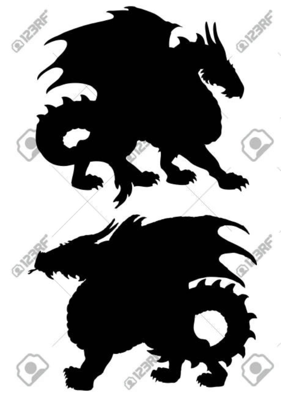 Große schwarze Monster
