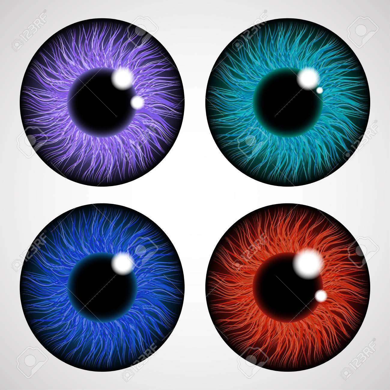 Iris Of The Human Eye Isolated On Light Background Various Royalty Free Cliparts Vectors And Stock Illustration Image 112038803