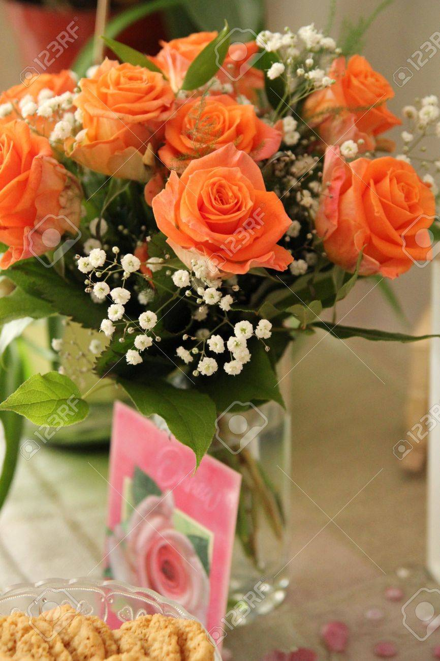 Flower Bouquet For Anniversary Stock Photo, Picture And Royalty Free ...