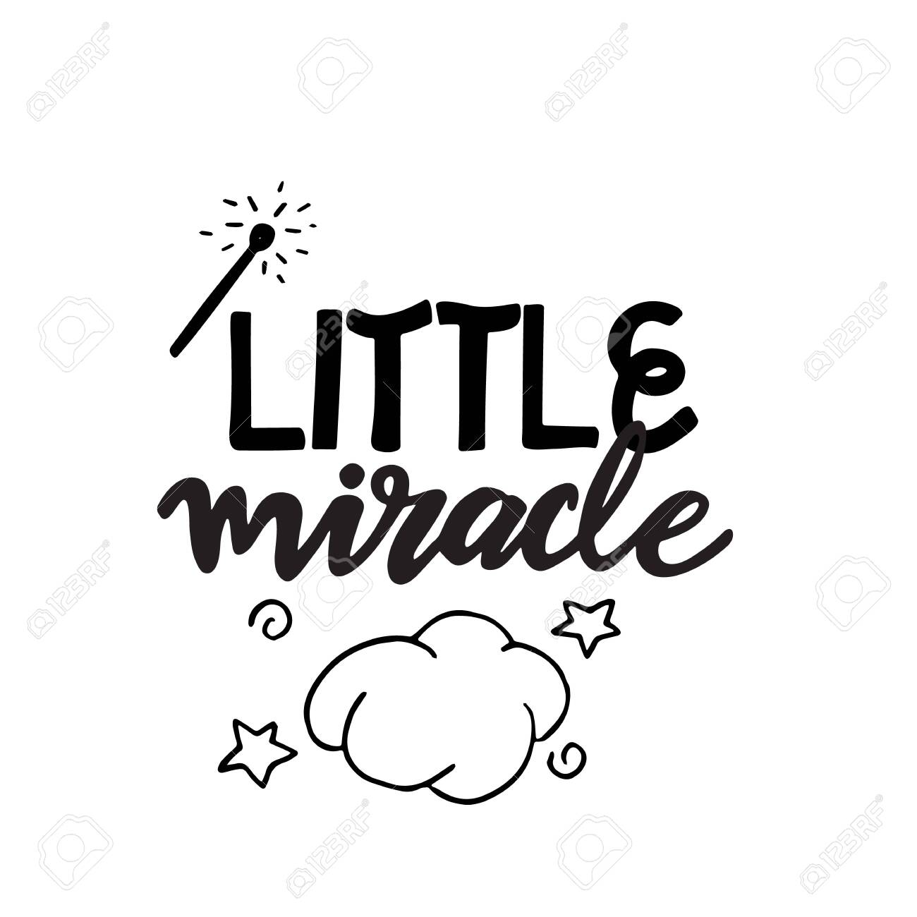 Little Miracle Baby Lettering Great Design For Any Purposes Royalty Free Cliparts Vectors And Stock Illustration Image 147364668