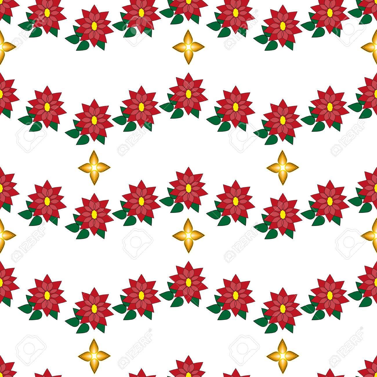Stella Di Natale Cartamodello.Vector Il Modello Senza Cuciture Di Natale Con La Stella Di Natale Su Fondo Bianco Puo Essere Utilizzato Per Carta Da Parati Sfondo Della Pagina