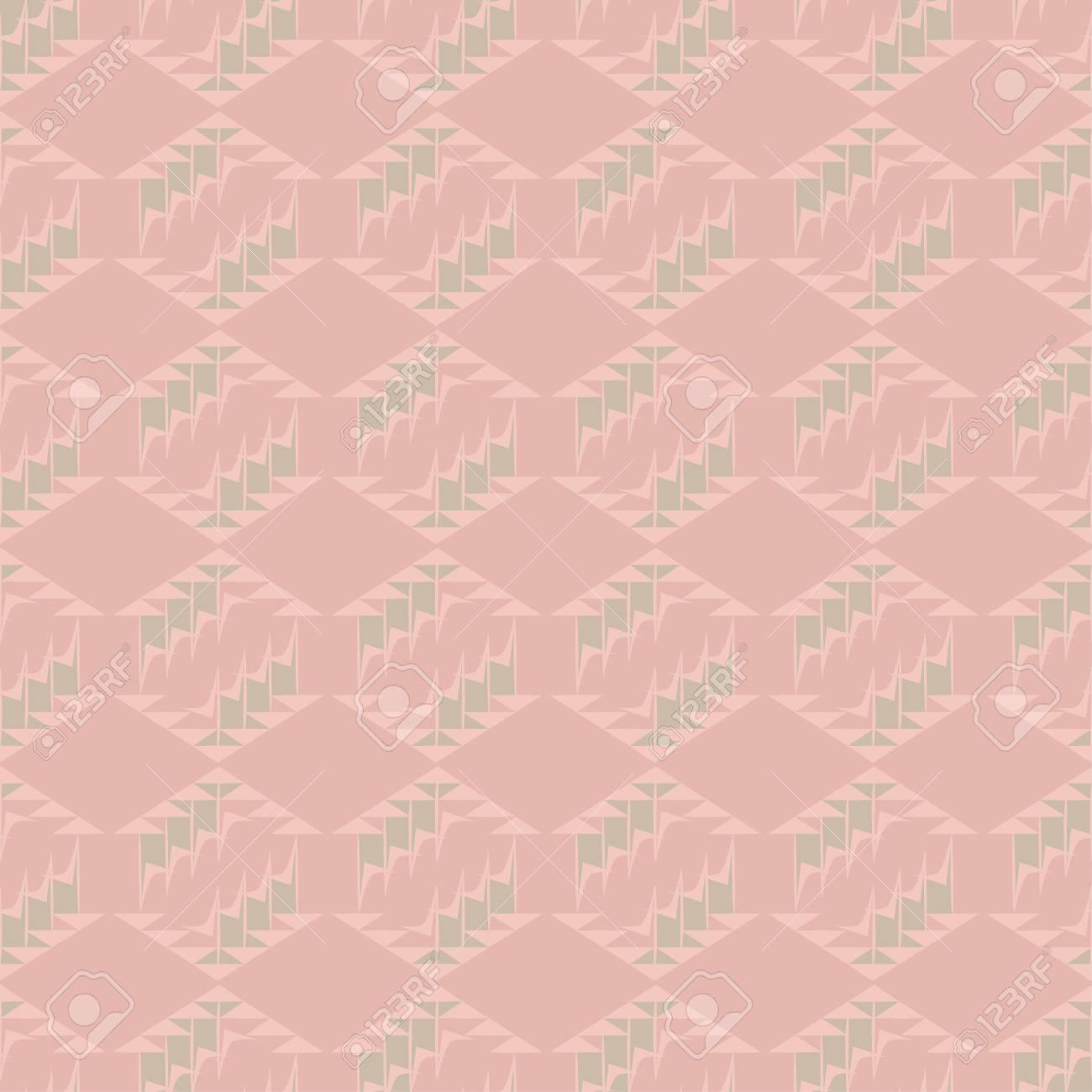 Modele Sans Couture Vecteur Geometrique Rose Avec Diamants Et
