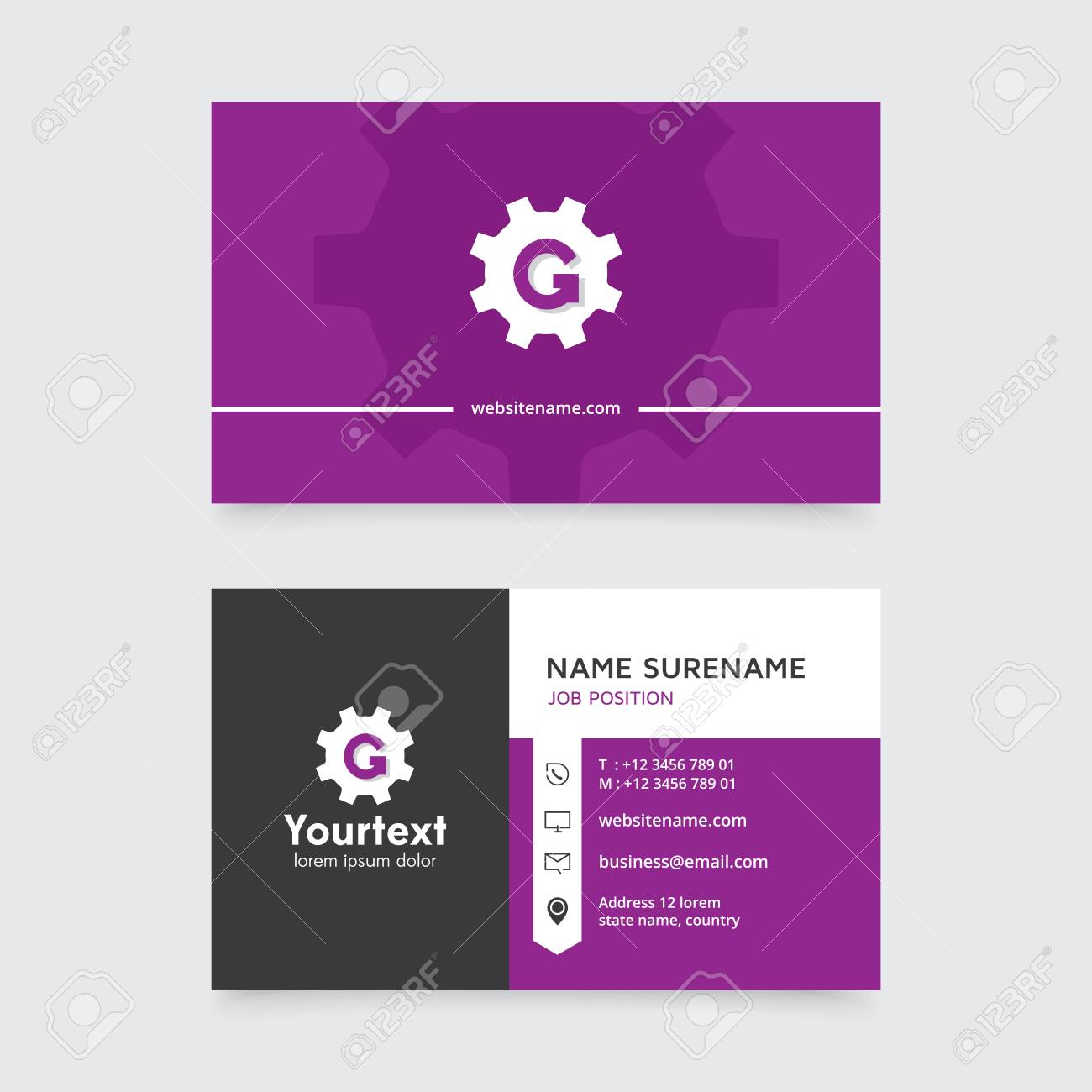 Vector Modern Creative And Clean Business Card Template, Flat ...