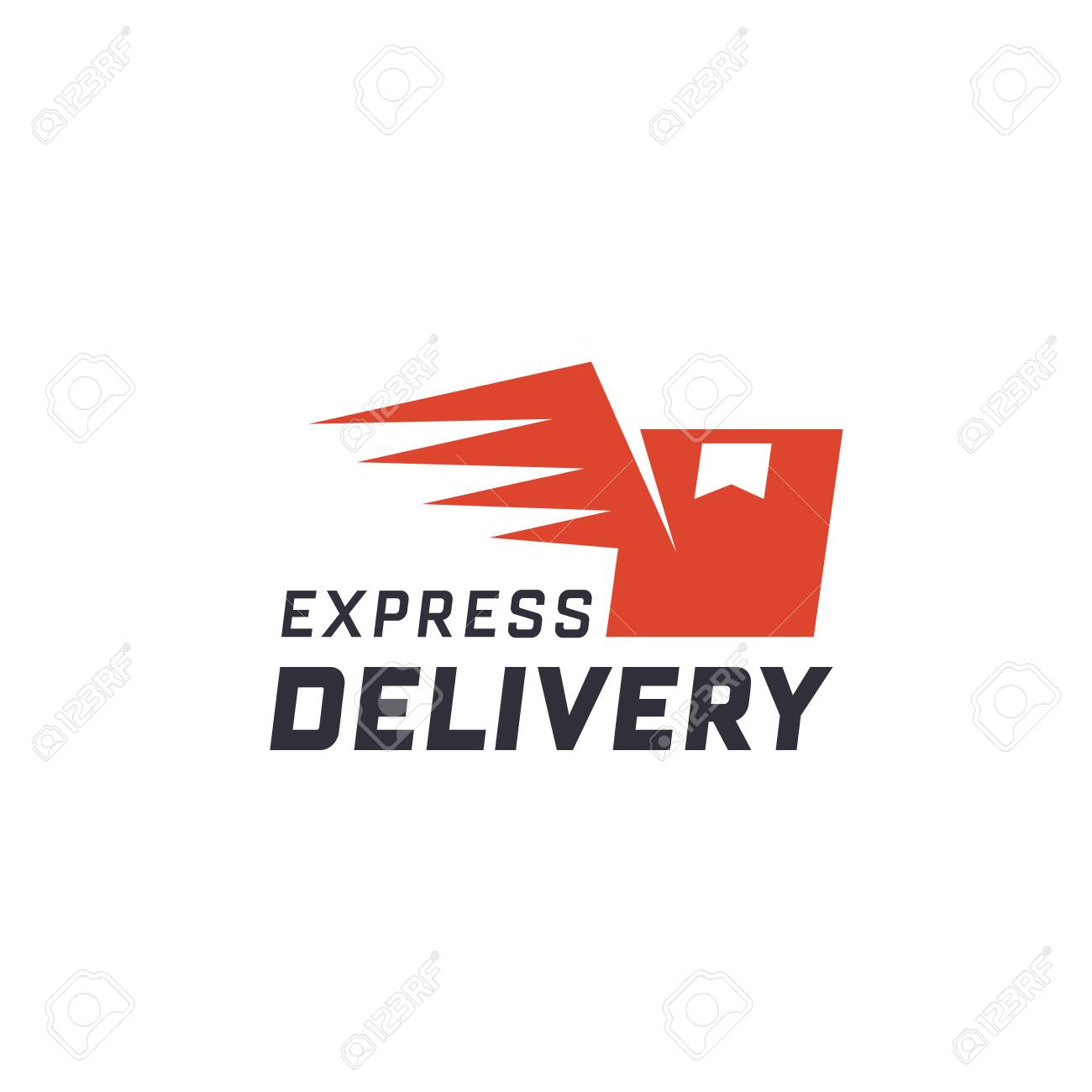 Express delivery  Delivery label for online shopping  Worldwide