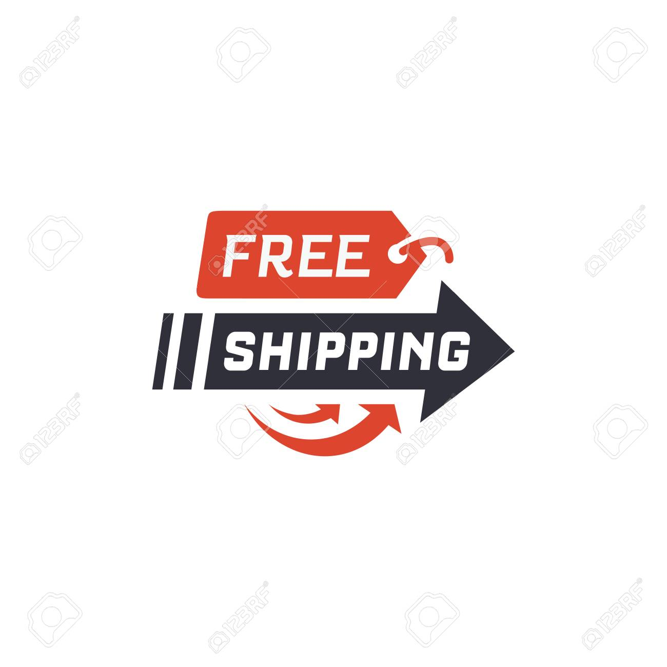 Free shipping  Delivery label for online shopping  Worldwide