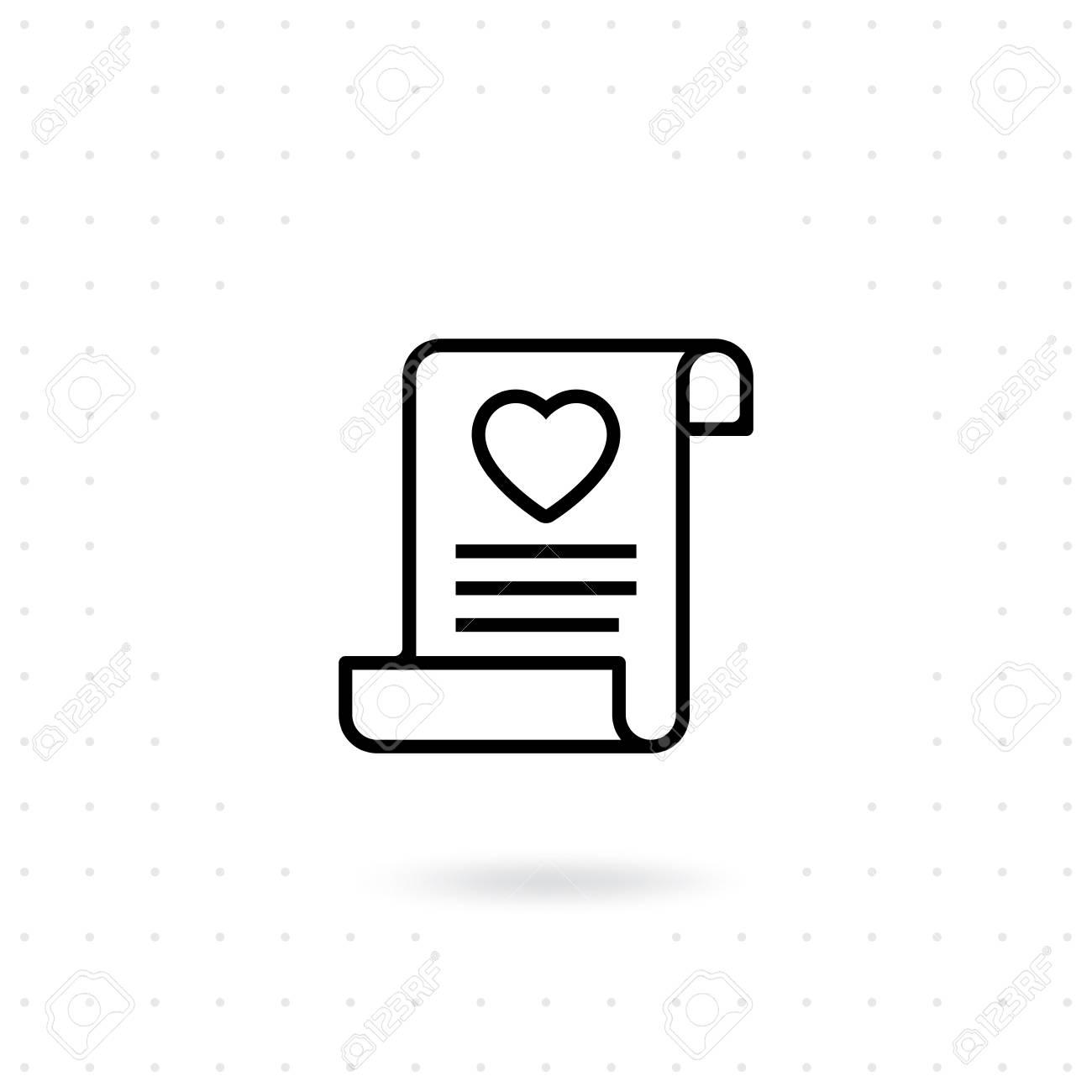Love invitation icon love letter icon in line style vector love invitation icon love letter icon in line style vector valentines day symbol for stopboris Image collections