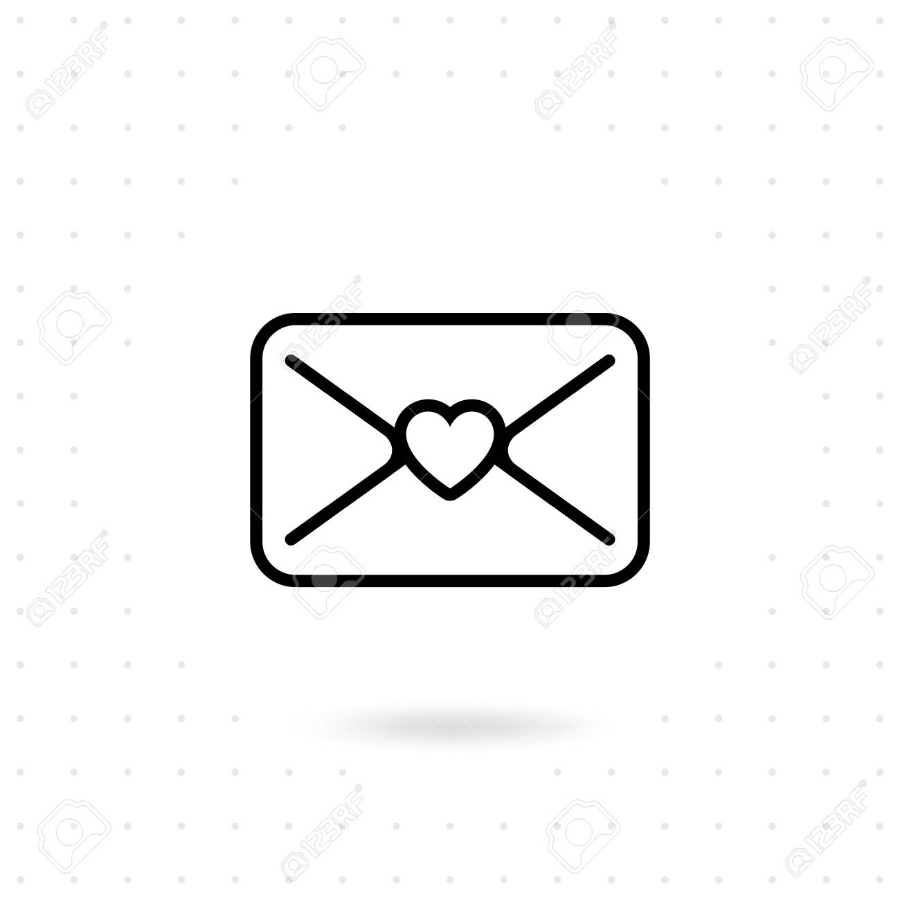Love Letter Icon Valentine Mail Vector Happy Valentine S Day