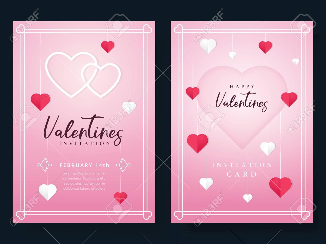 Valentines Day Invitation Beautiful Greeting Or Invitation Cards