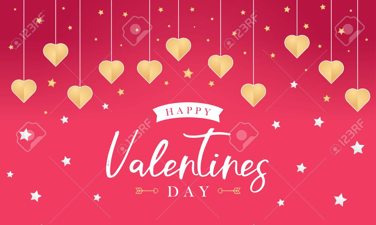 Happy Valentines Day Greeting Card Web Banner For Valentines