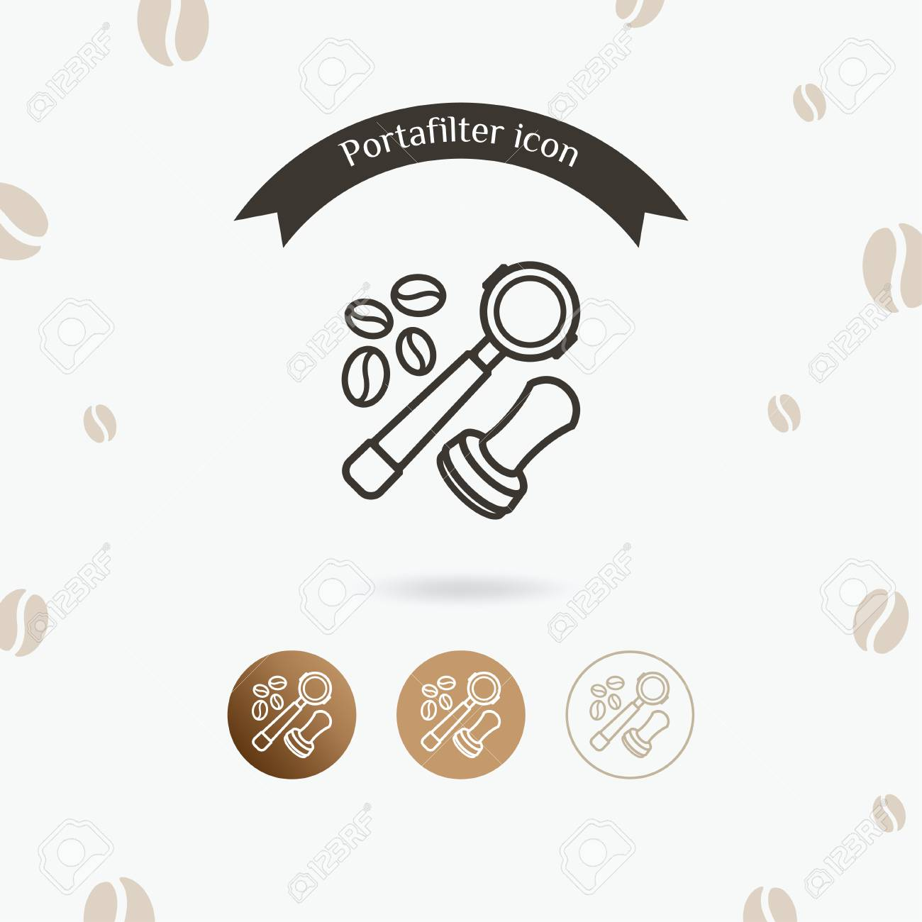 portafilter icon coffee equipment vector illustration barista royalty free cliparts vectors and stock illustration image 97237105 portafilter icon coffee equipment vector illustration barista