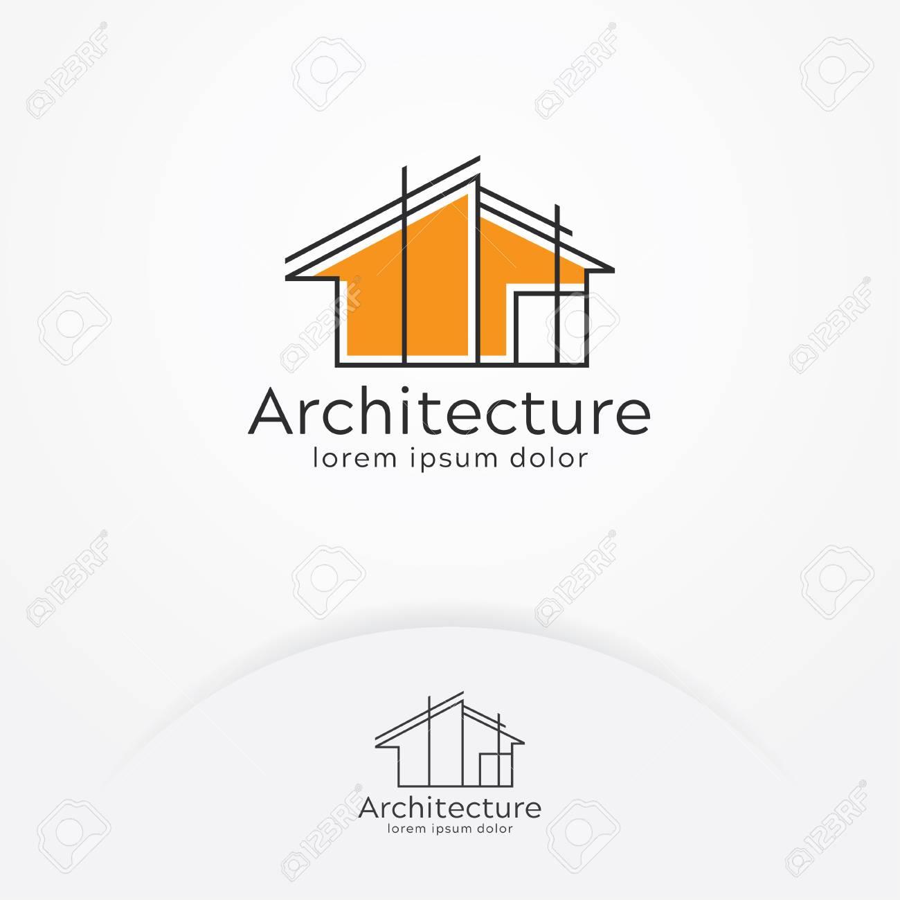 Architecture logo design, Vector construction company brand design template. Architect and Construction vector logo template - 105363225