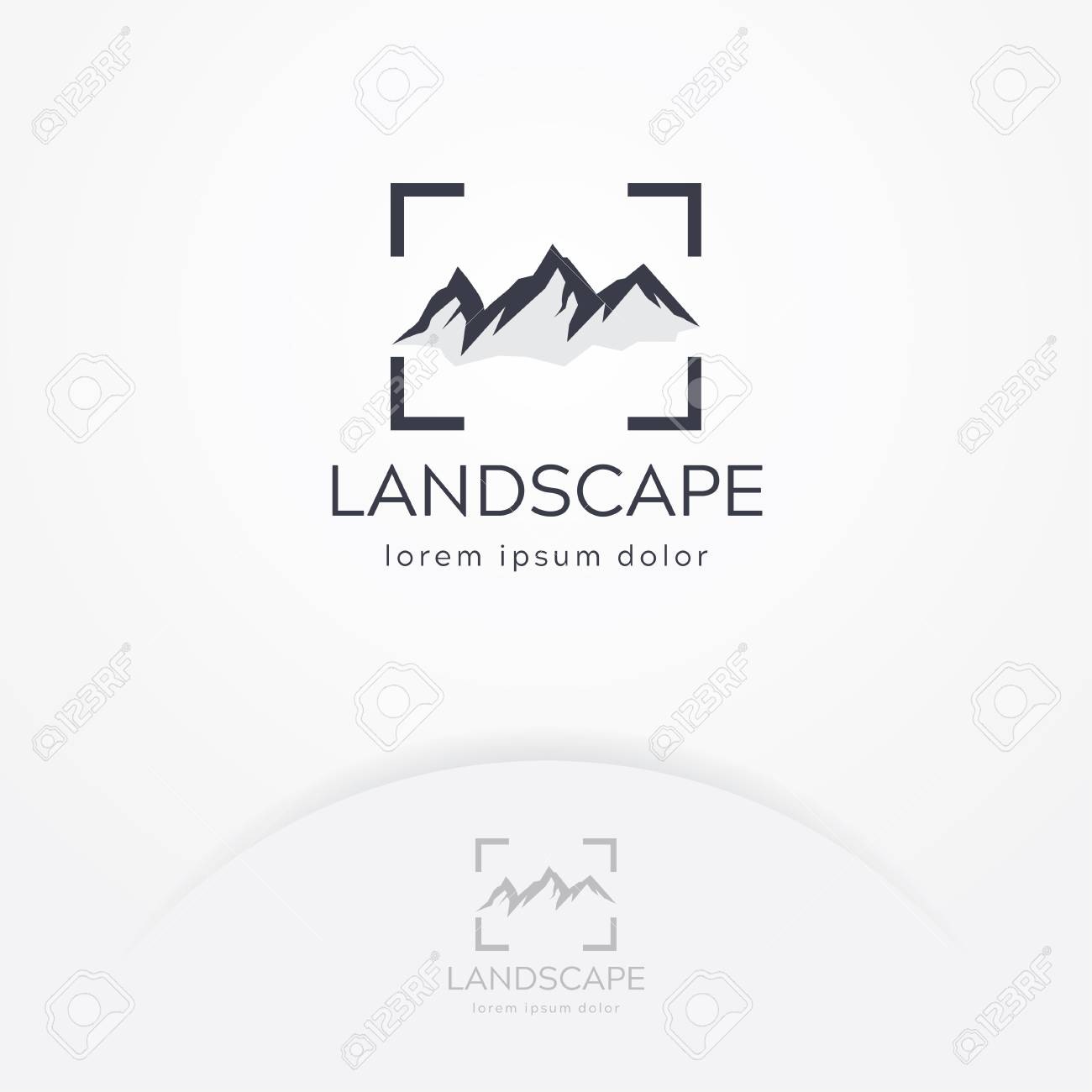 Mountain Photography Logo Modern Photography Logo Nature And