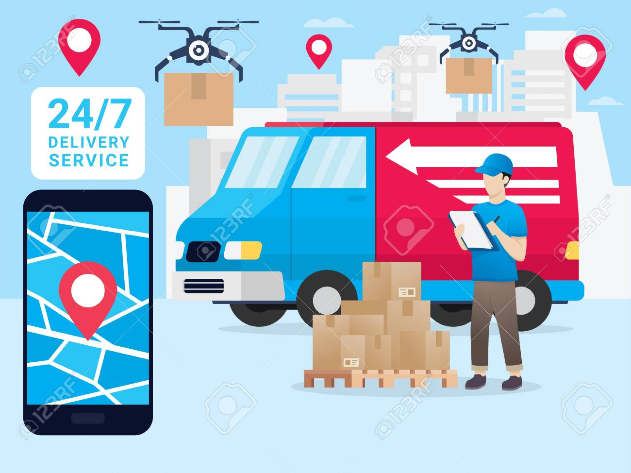 Logistics And Transportation Delivery Service Online Delivery