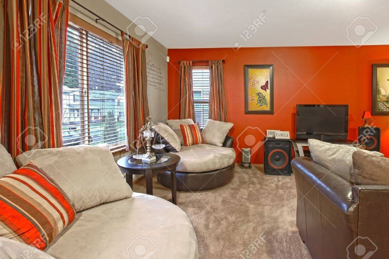 red wall and asian style with comfortable modern furniture stock photo 12313580 asian modern furniture
