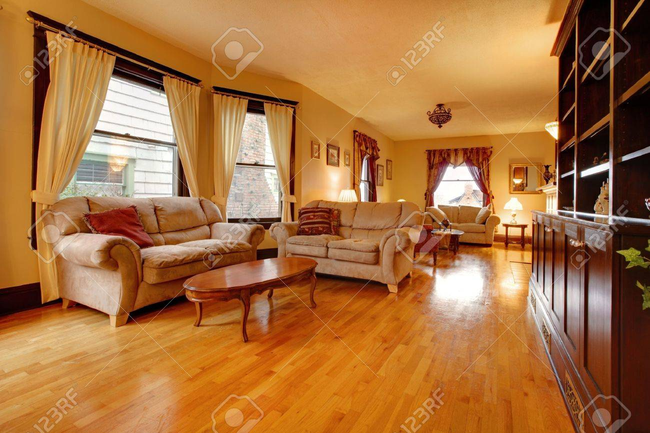 Luxury gold living room Stock Photo - 12312730