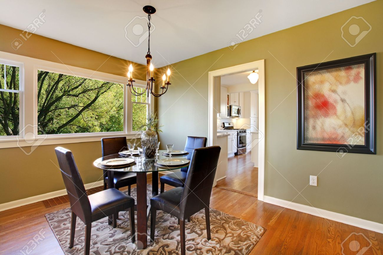 Green Dining Room Fresh Green Dining Room Stock Photo Picture And Royalty Free