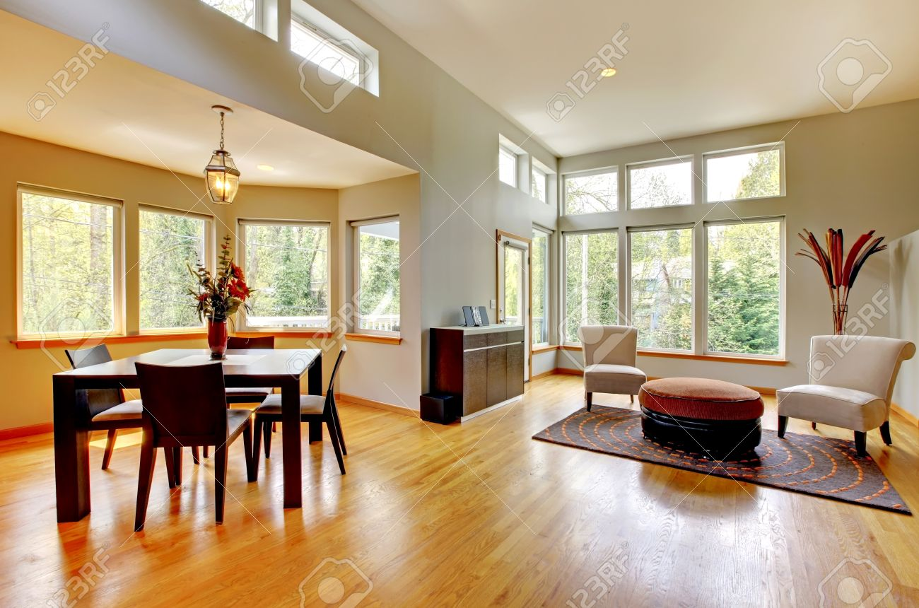 Fantastique maison intérieur moderne salon. salle à manger ...