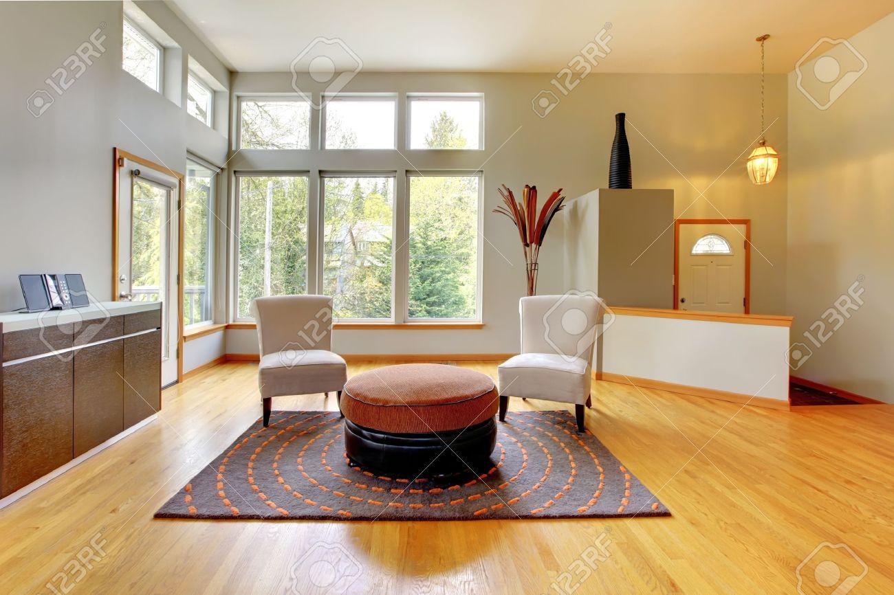 Fantastique Maison Int Rieur Moderne Salon Immense Salle Vert  # Salon Meuble En Vert