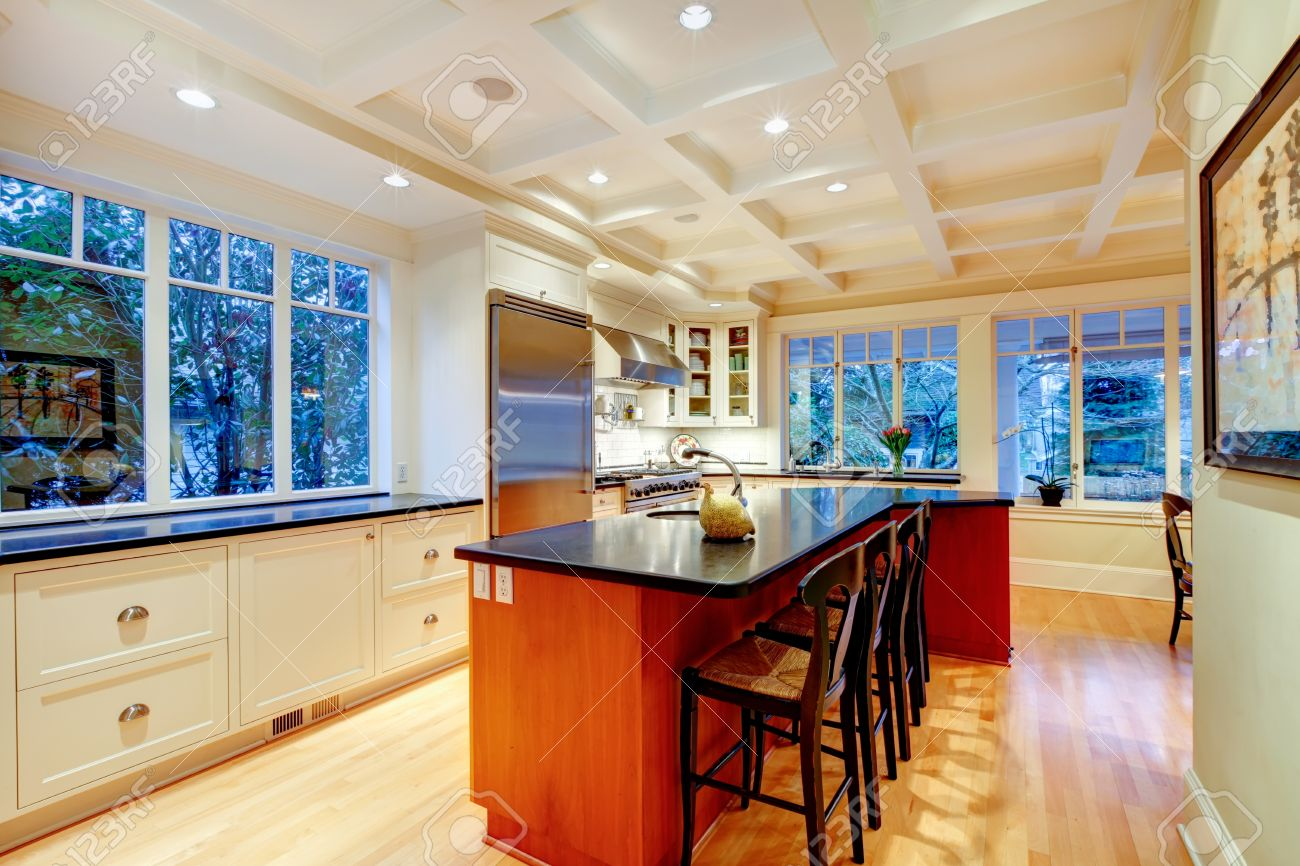 Huge Refrigerator White Large Luxury Kitchen With Huge Wood Island And Refrigerator