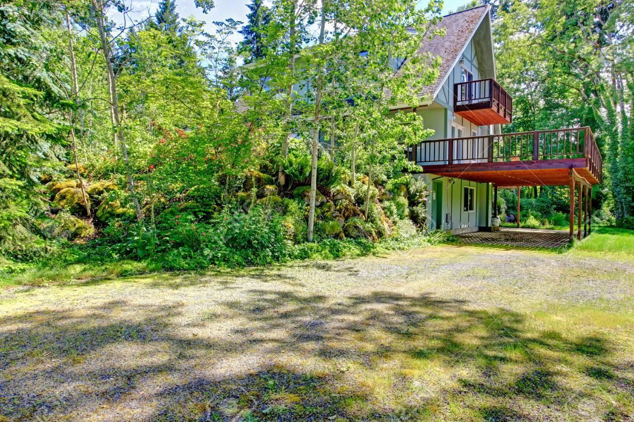 Backyard Farm House View With Nature Countryside Landscape Stock ... for Countryside Landscape With House  83fiz