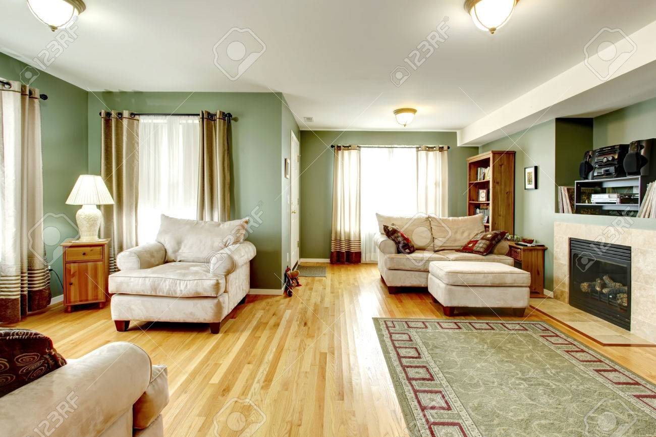 Cozy Living Room With A Hardwood Floor, Fireplace. Furnished With Armchair,  Love Seat Part 69