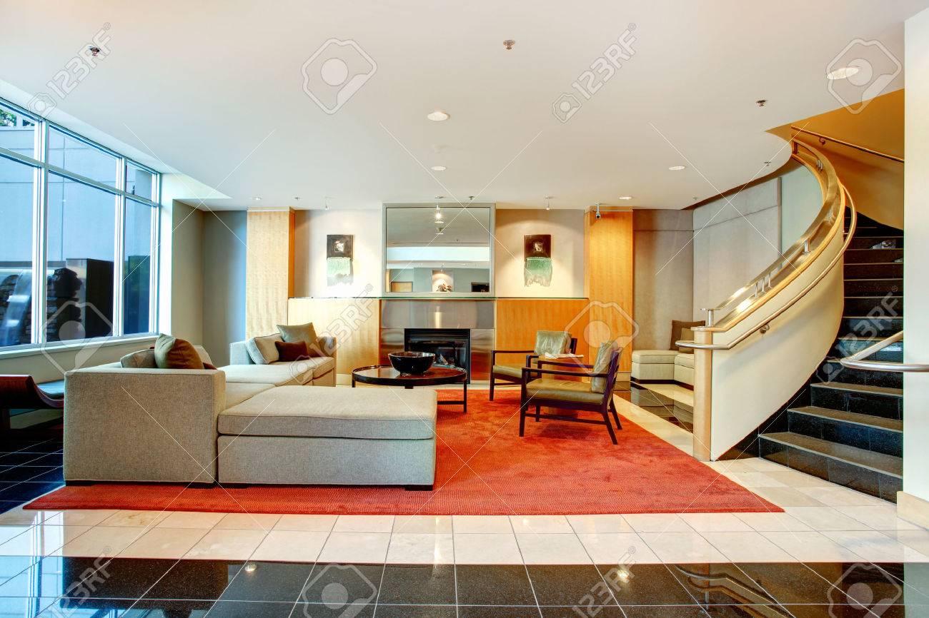 Elegant luxury residential apartments foyer in concord building ...