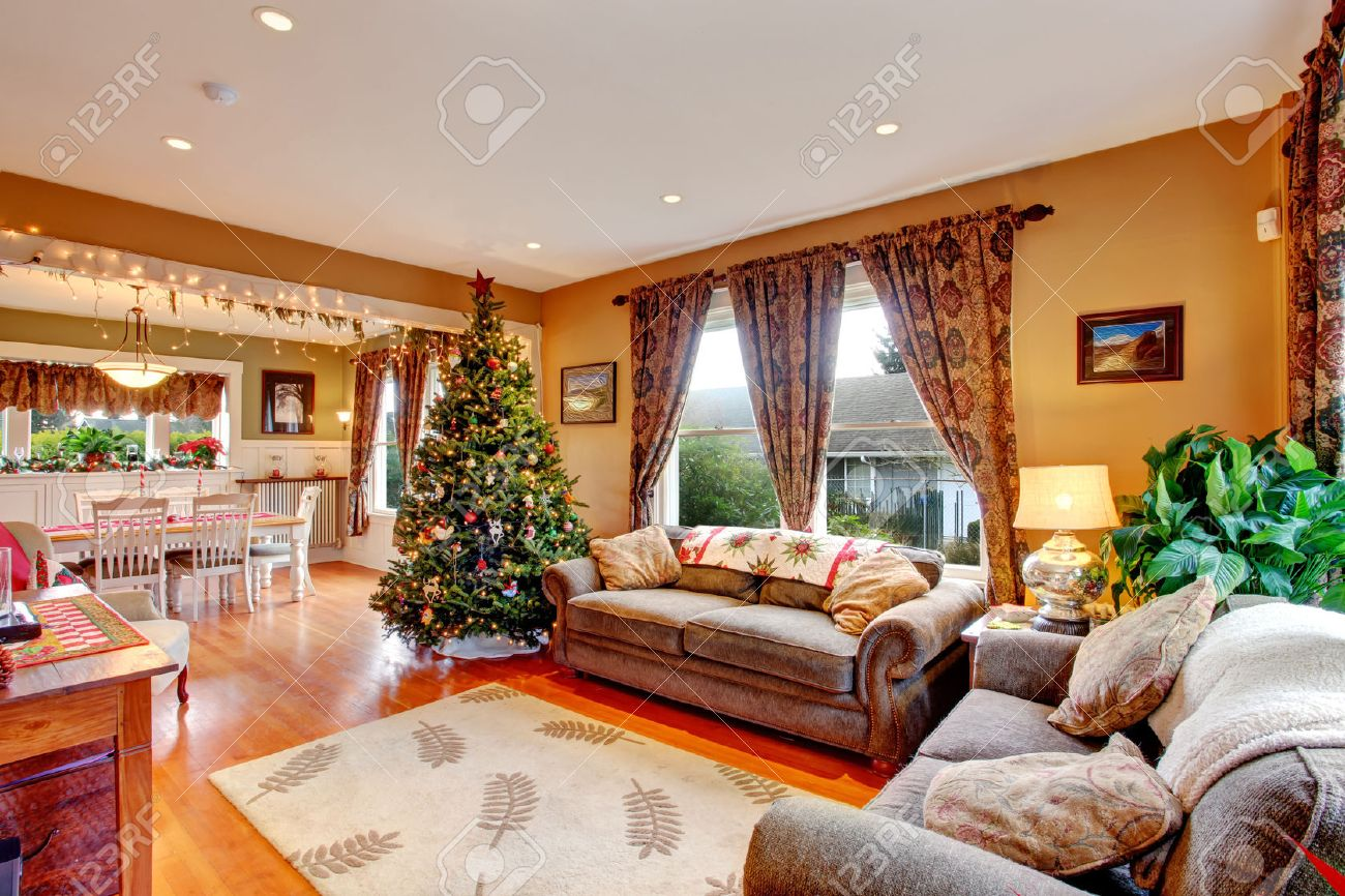 Cozy House Endearing Cozy House Interior On Christmas Eveview Of Living Room With Inspiration Design