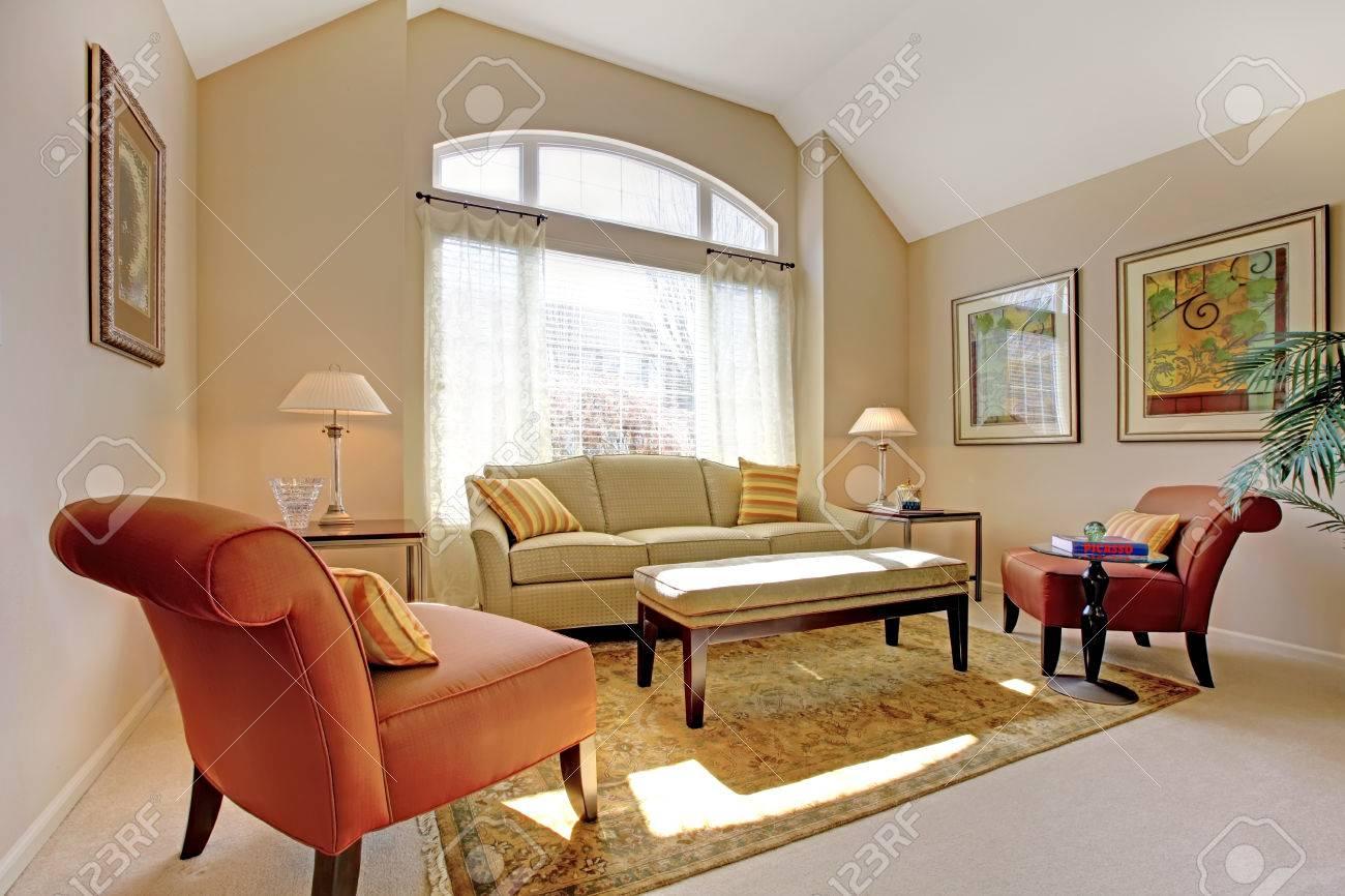 Beautiful classic living room with elegant furniture