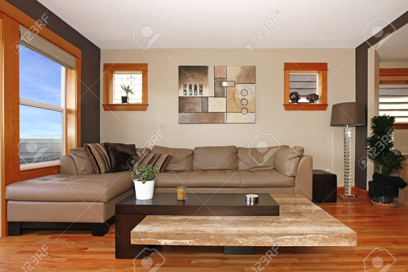 Schöne Moderne Wohnzimmer Innenraum Lizenzfreie Fotos, Bilder Und ...