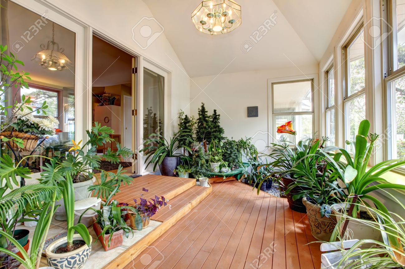 Cool Bright Home Greenhouse With High Vaulted Ceiling And Hardwood Complete Home Design Collection Barbaintelli Responsecom