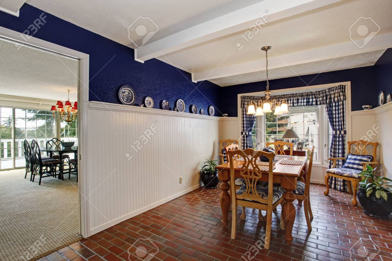 Dining Room In Old House Rustic Dining Table Set Blend Perfectly Stock Photo Picture And Royalty Free Image Image 29735618