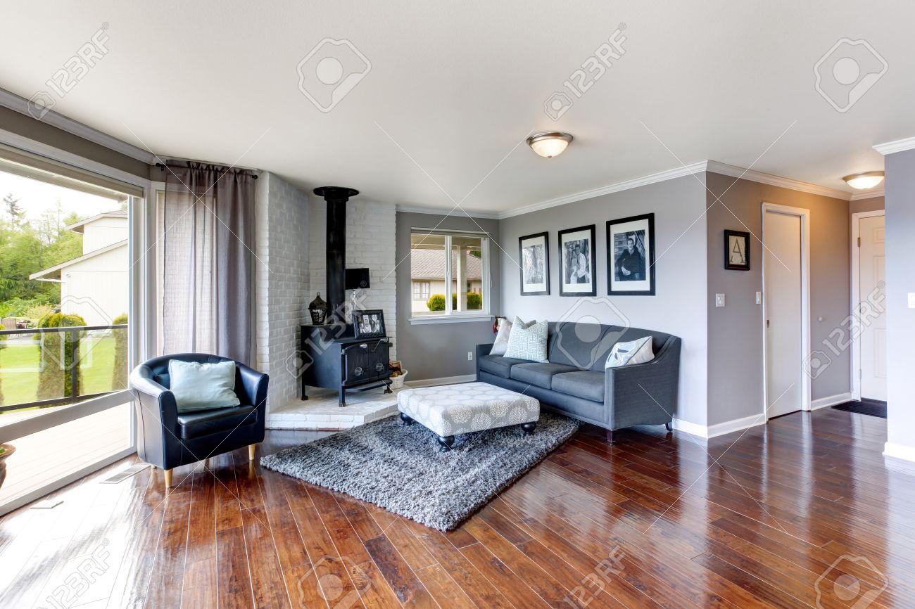 Wohnzimmer bilder fr hintergrund  Elegante Möblierte Ecke In Luxus-Haus Wohnzimmer Ansicht Der ...