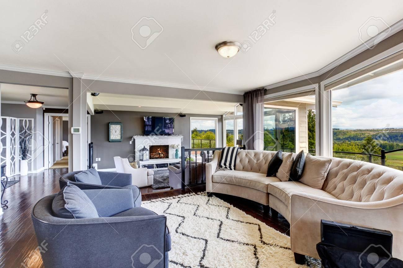 Lavender Living Room Bright Elegant Living Room Interior With White And Lavender