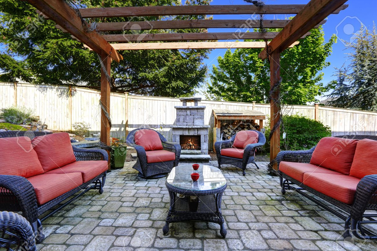 brick patio stock photos u0026 pictures royalty free brick patio