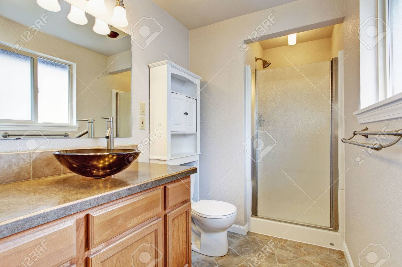 Porte Salle De Bain Vitree ~ int rieur salle de bain avec porte vitr e douche vanit en bois