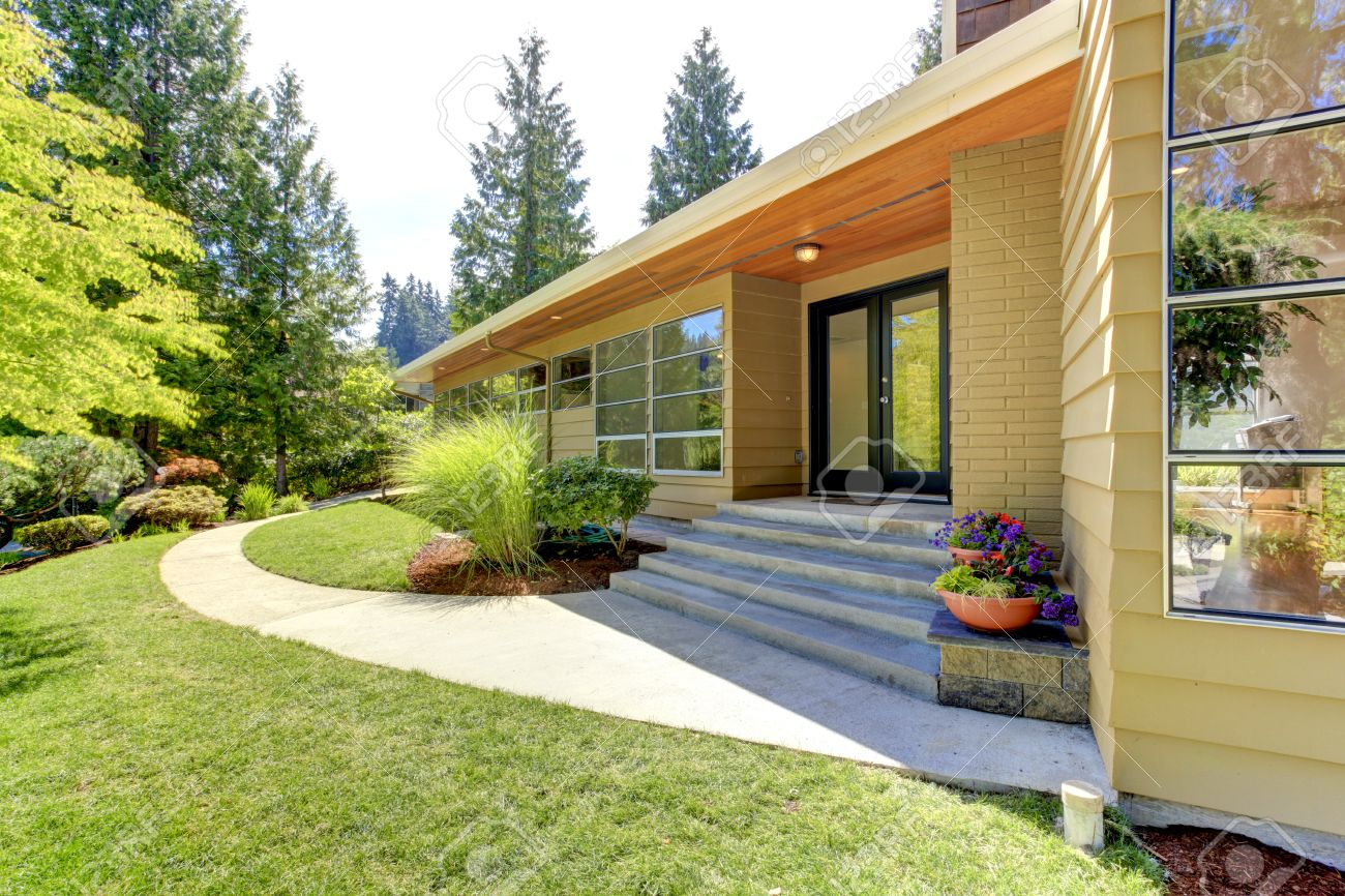 House Exterior With Curb Appeal View Of Entrance Porch With