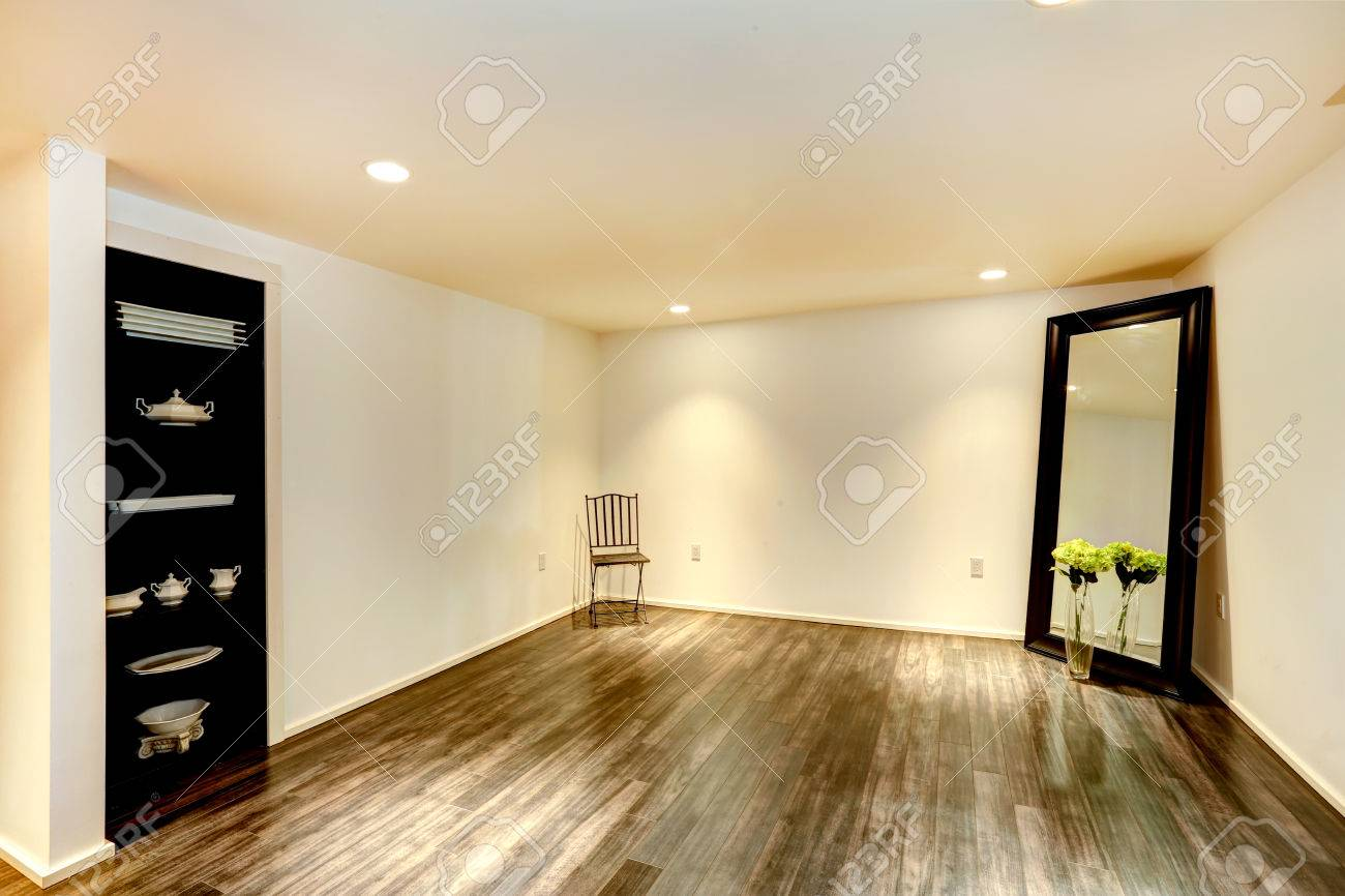 Large Dining Room Mirrors Empty Dining Room With Hardwood Floor And Soft Ivory Walls Room