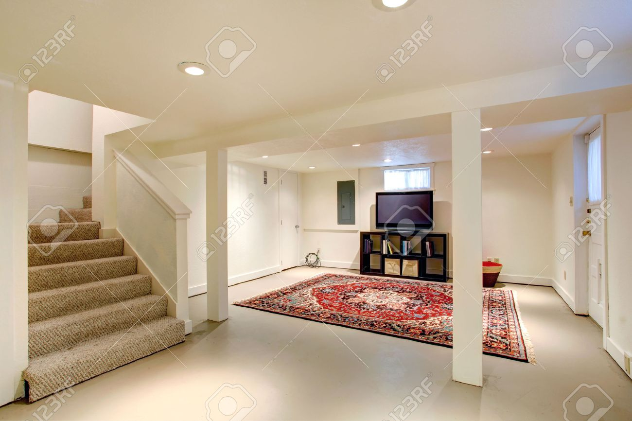 Basement entertainment room - Ideas For Basement Room Entertainment Room With Tv Stock Photo 30929799