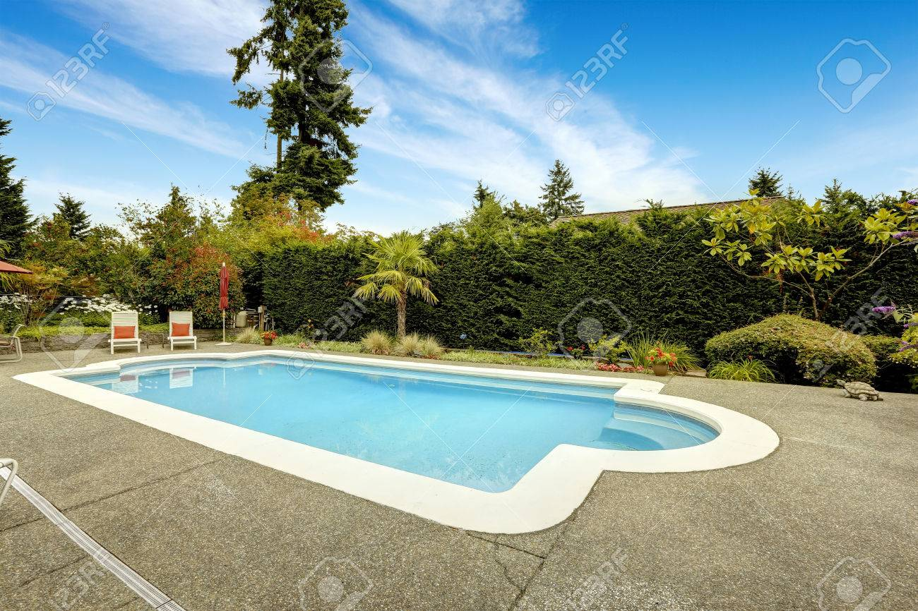 backyard with beautiful swimming pool deck chairs real estate in federal way wa - Swimming Pool Deck Chairs