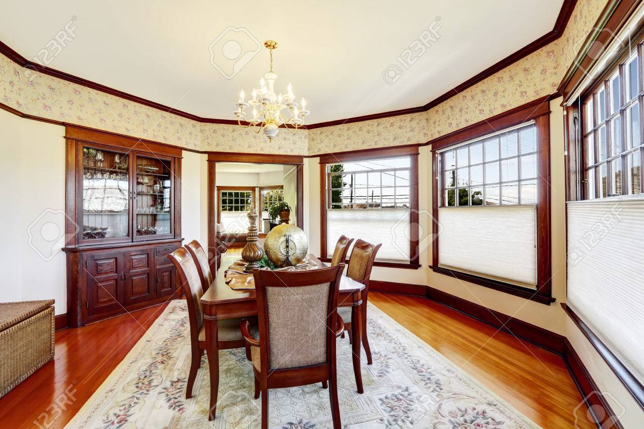 luxury dining room with wood trim and built in cabinet decorated luxury dining room with wood trim and built in cabinet decorated family dining table